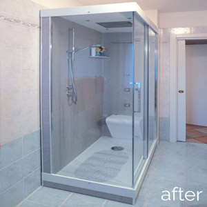 After - Replace Old Framed Shower Doors with a Frameless Enclosure
